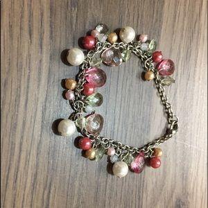 Vintage pretty in pink bracelet